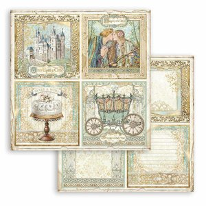 """Papel 12x12"""" Stampería Sleeping Beauty Cards"""