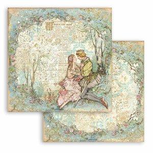 "Papel 12x12"" Stampería Sleeping Beauty Lovers"