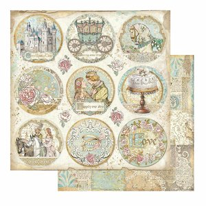 """Papel 12x12"""" Stampería Sleeping Beauty Rounds"""