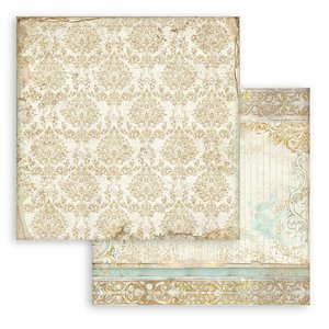 """Papel 12x12"""" Stampería Sleeping Beauty Texture Gold"""