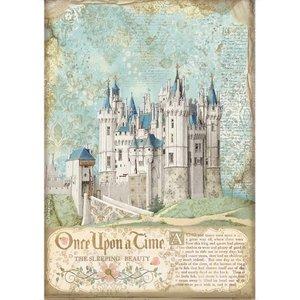 Papel de arroz A4 Stampería Sleeping Beauty Castle