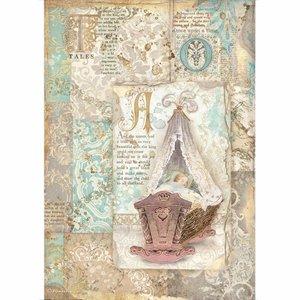 Papel de arroz A4 Stampería Sleeping Beauty Cradle