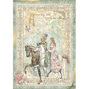 Papel de arroz A4 Stampería Sleeping Beauty Prince on Horse