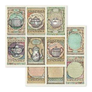 """Papel 12x12"""" Stampería Alice Tea Time"""