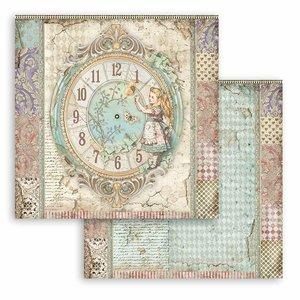 """Papel 12x12"""" Stampería Alice Clock"""