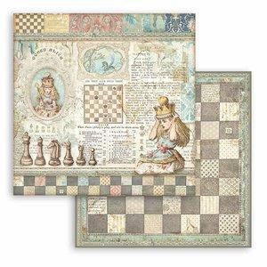 """Papel 12x12"""" Stampería Alice Queen"""