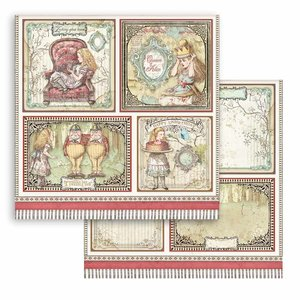 "Papel 12x12"" Stampería Alice In Wonderland Cards"