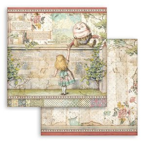 "Papel 12x12"" Stampería Alice Humpty Dumpty"