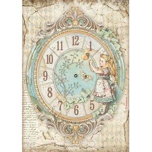 Papel de arroz A4 Stampería Alice Clock