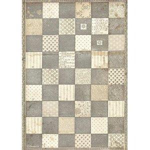 Papel de arroz A4 Stampería Alice Chessboard