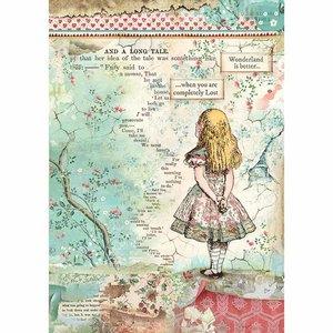 Papel de arroz A4 Stampería Alice in Wonderland