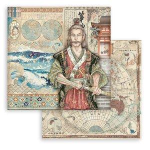 "Papel 12x12"" Stampería Sir Vagabond in Japan Samurai"