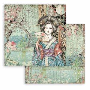 """Papel 12x12"""" Stampería Sir Vagabond in Japan Lady"""