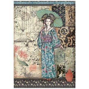Papel de arroz A4 Sir Vagabond in Japan Lady