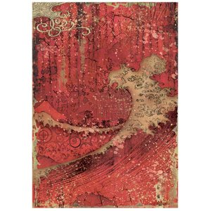 Papel de arroz A4 Sir Vagabond in Japan Red Texture