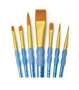Pinceles R&L Gold Taklon 7 pk Variety Set nº 402