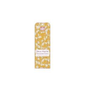 Set papel Decoupage Mustard Bloom