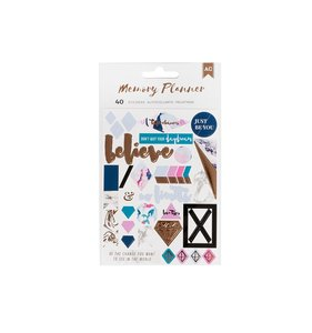 Pegatinas Words & Icons Memory Planner MC