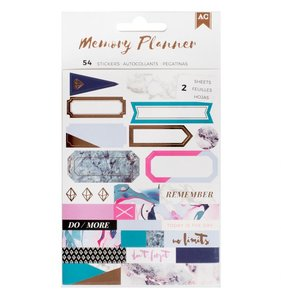 Pegatinas Labels Memory Planner MC