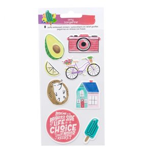 Pegatinas puffy con relieve Stay Sweet