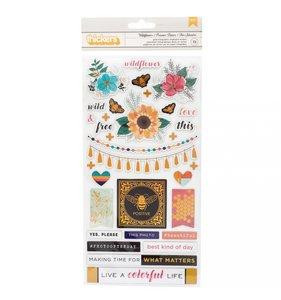 Thickers chipboard 6x12 Vicki Boutin Wildflower & Honey