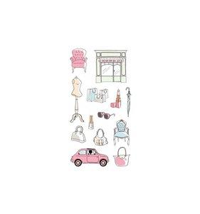 Pegatinas puffy Fashionista Shopping