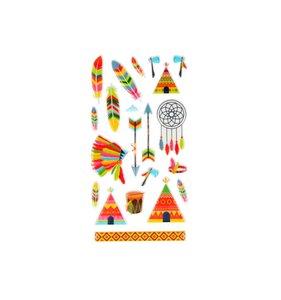 Pegatinas puffy Totem Indians