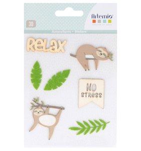 Pegatinas de madera y fieltro No Stress