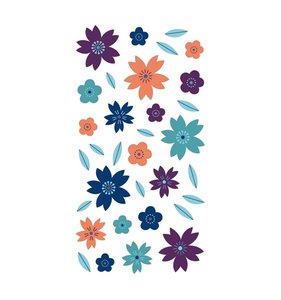 Pegatinas puffy Japan Flores