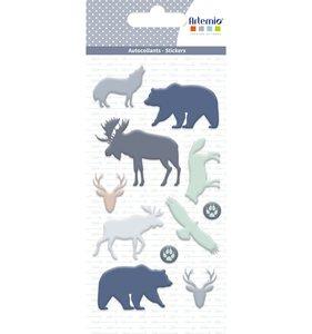 Set de pegatinas puffies Woodland Animals