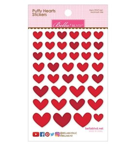 Pegatinas Puffy Bella Hearts McIntosh