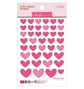 Pegatinas Puffy Bella Hearts Punch
