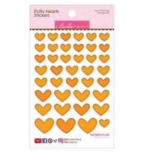 Pegatinas Puffy Bella Hearts Orange