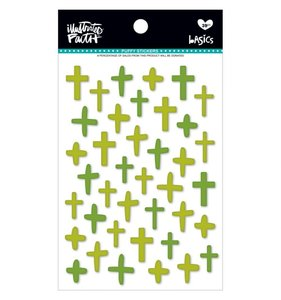 Pegatinas Puffy IF Basics Crosses Olive