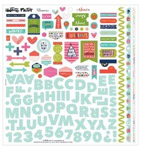 """Pegatinas y alfabeto 12x12"""" Advent"""