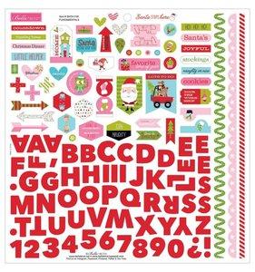 """Pegatinas y alfabeto 12x12"""" Santa Stop Here"""