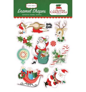 Enamel Shapes A Very Merry Christmas