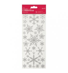 Pegatinas Transparentes Glitter Snowflakes