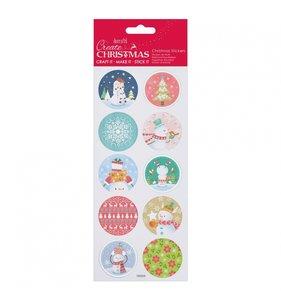 Pegatinas con foil Christmas Pastel Snowman