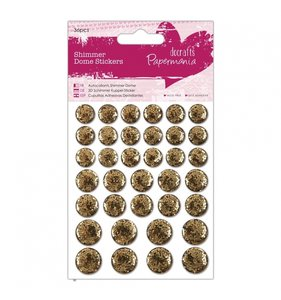 Pegatinas resina y glitter Shimmer Dome Gold