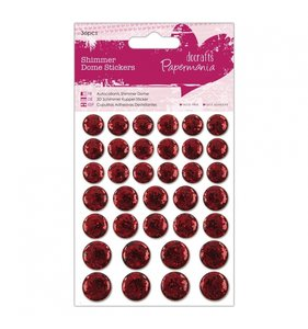 Pegatinas resina y glitter Shimmer Dome Red