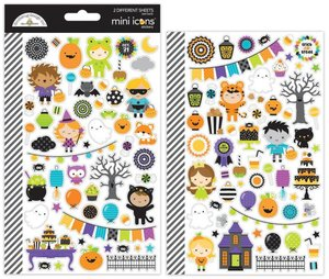 Pegatinas mini icons Pumpkin Party Doodlebug
