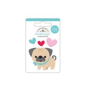 Doodle-Pops 3D Love Pug