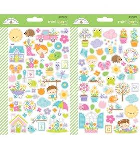 Pegatinas Mini Iconos Doodlebug Simply Spring