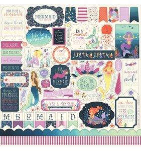 Hoja de pegatinas 12x12 Mermaid Dreams