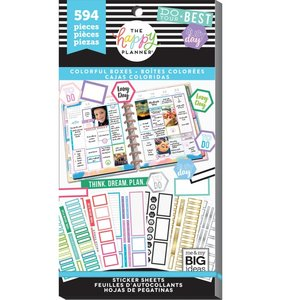 Pegatinas Colorful Boxes Value Pack Happy Planner