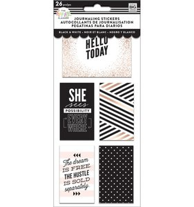 Pegatinas para Journaling Flip Happy Planner Black and White