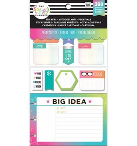 Pack de pegatinas y accesorios Happy Planner Productivity