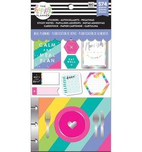 Pack de pegatinas y accesorios Happy Planner Meal Planning