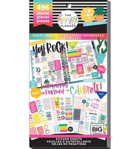 Pegatinas Happy Quotes Happy Planner Value Pack